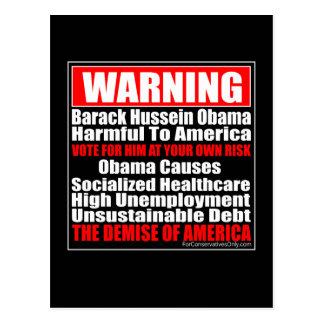 Causas de Hussein Obama de la Advertencia-Barack Postal