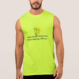 Cause problemas pensar dos veces--Camiseta Remera Sin Mangas