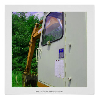 Cavador - foto del arte del material de construcci póster