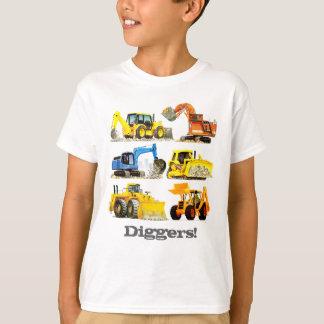 Cavadores y excavadores gigantes de la camiseta