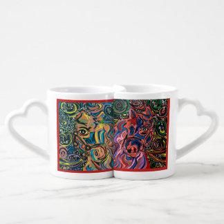 Cavalgando al amor con una taza de cafe.