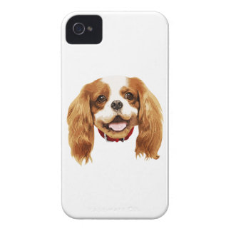 CavalierKingCharlesSpaniel_Epagneul face002 iPhone 4 Carcasa