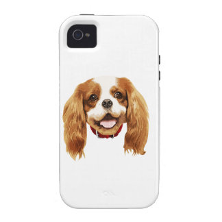 CavalierKingCharlesSpaniel_Epagneul face002 iPhone 4 Carcasas