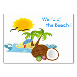 """¡""""Cavamos"""" la playa! Invite a la tarjeta"""