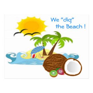 "¡""Cavamos"" la playa! Postal"