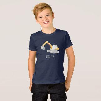 ¿Cávelo? Camisa de chico picadora del excavador