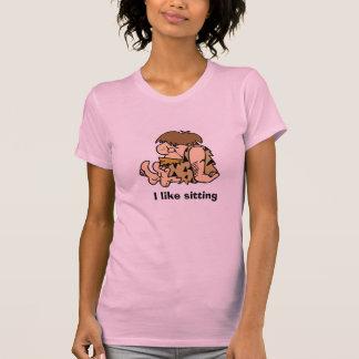 caveman4 [1], tengo gusto de sentarme camiseta