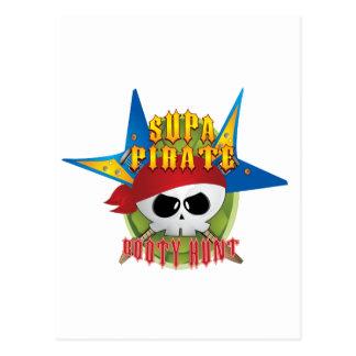 Caza del botín del pirata de Supa Postal