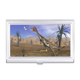 Caza del dinosaurio de Mononykus - 3D rinden Caja Para Tarjetas De Visita