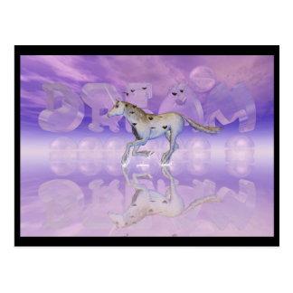 Caza del unicornio su sueño postal