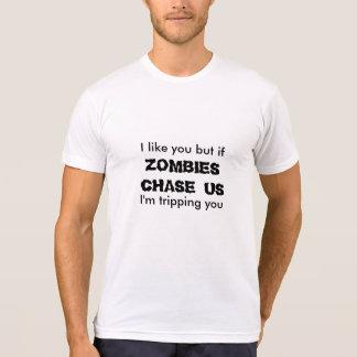 Caza del zombi camiseta