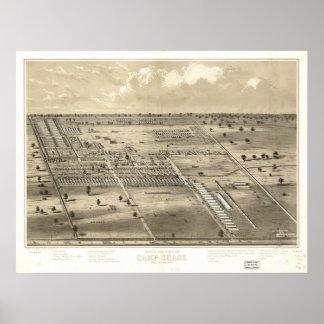 ¿Caza Ohio 186 del campo? Mapa panorámico antiguo Impresiones