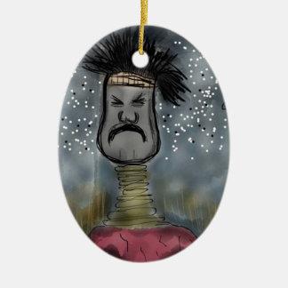 Cazador africano ornamento para arbol de navidad