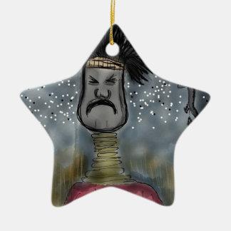 Cazador africano ornamentos de navidad