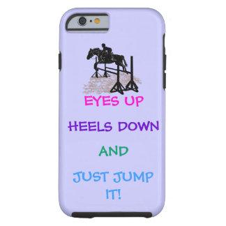 Cazador de la diversión/Equestrian del puente Funda De iPhone 6 Tough