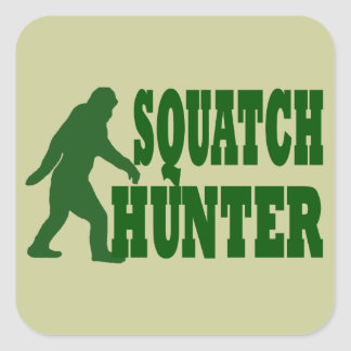 Cazador de Squatch Pegatina Cuadrada