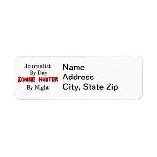 Cazador del periodista/del zombi etiqueta de remitente