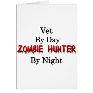 Cazador del veterinario/del zombi tarjeta de felicitación