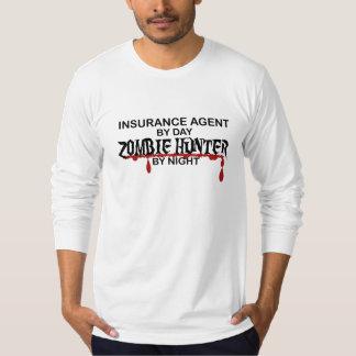 Cazador del zombi del agente de seguro camiseta
