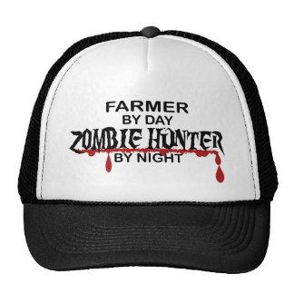 Cazador del zombi del granjero gorros