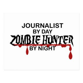 Cazador del zombi del periodista postal