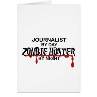Cazador del zombi del periodista tarjeta de felicitación