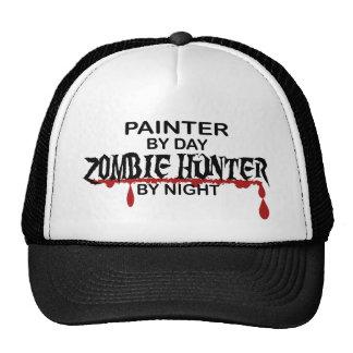 Cazador del zombi del pintor gorras