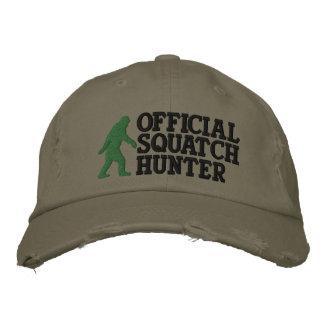 Cazador oficial del squatch version grande del gorras bordadas