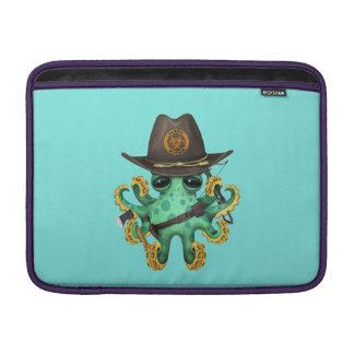 Cazador verde del zombi del pulpo del bebé funda para MacBook air