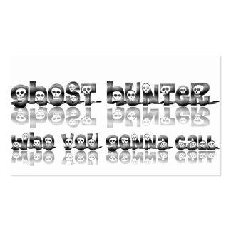 Cazadores del fantasma que usted que va a llamar tarjetas de visita