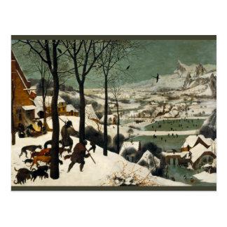 Cazadores en la nieve de Pieter Bruegel la anciano Tarjetas Postales
