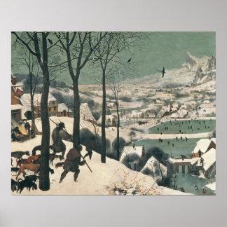 Cazadores en la nieve - enero de 1565 póster