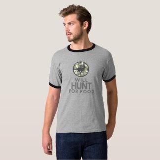 Cazará para los ciervos de la comida en la caza camiseta