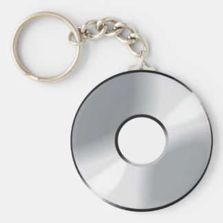 Cd del disco compacto llavero redondo tipo chapa