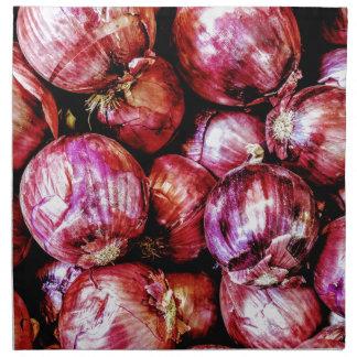 Cebolla roja servilleta de tela