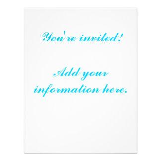 Cebra adolescente de la aguamarina de las invitaci comunicado