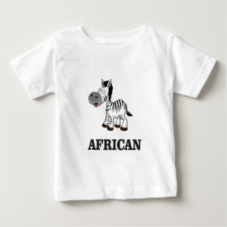 Cebra africana camiseta de bebé
