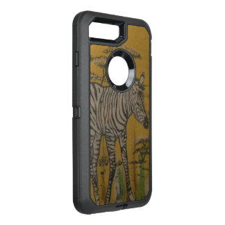 Cebra africana del safari de Kenia de la vida Funda OtterBox Defender Para iPhone 8 Plus/7 Plus
