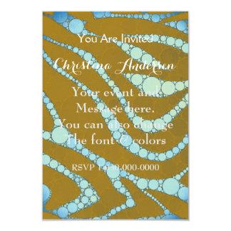 Cebra azul fluorescente del moreno invitación 8,9 x 12,7 cm