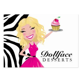 Cebra Blondie 3,5 x 2 de 311 postres de Dollface Tarjetas De Negocios