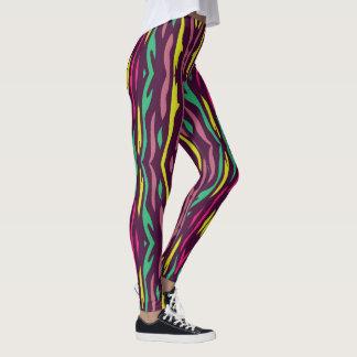 cebra colorida leggings