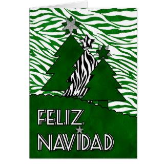 Cebra de Feliz Navidad del navidad de la lengua Tarjeta De Felicitación