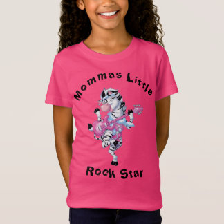 Cebra de la estrella de Mommas Little Rock Camiseta