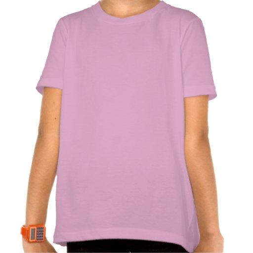 Cebra de la tira de color camiseta