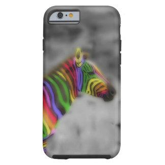 Cebra del arco iris funda de iPhone 6 tough