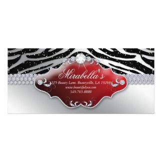 Cebra del brillo de la moda del vale del navidad diseños de tarjetas publicitarias