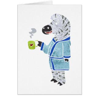 Cebra divertida tarjeta de felicitación