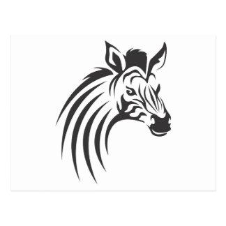 Cebra en estilo del dibujo del chasquido tarjeta postal
