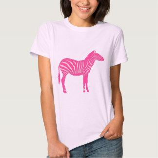 Cebra - fucsia y rosa clara camiseta
