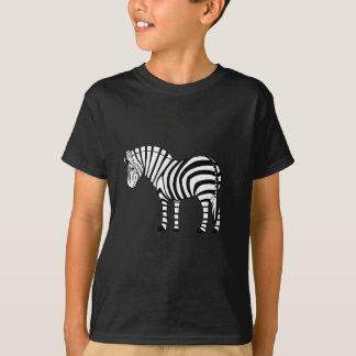 Cebra juguetona camiseta